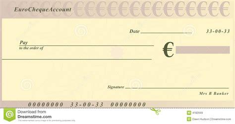 imagenes de cheques en blanco euro cheque stock illustration image of investing