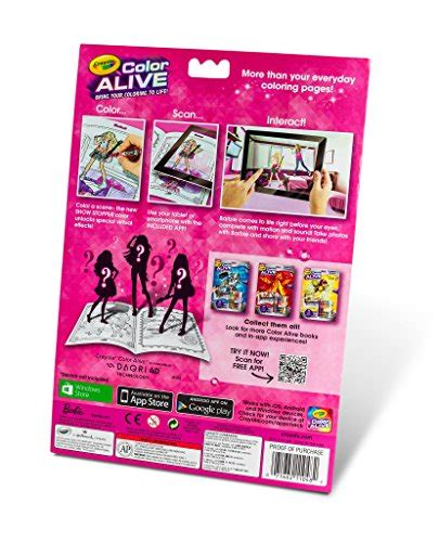 Crayola Action Coloring Pages   crayola color alive action coloring pages barbie