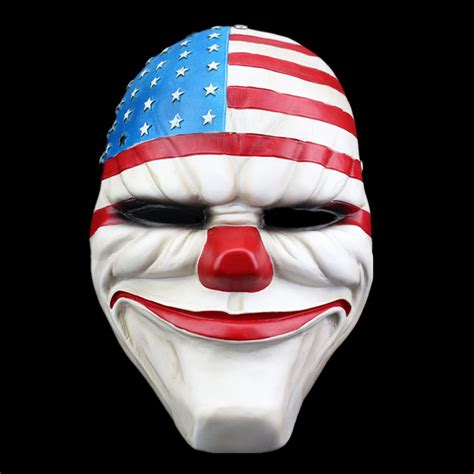 Topeng Payday Mask Payday 1 payday 2 masks dallas america masque carnival masks resin scary