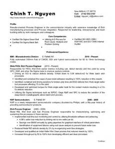 Semiconductor Engineer Sle Resume by Chinh Nguyen Resume
