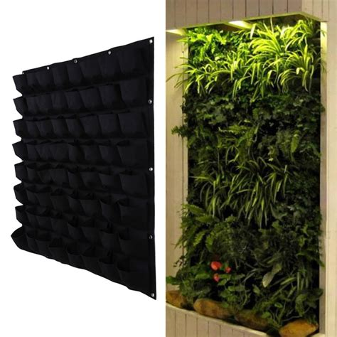 vertical herb garden indoor aliexpress buy 64 pocket hanging vertical garden