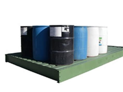 secondary containers for chemical storage containment pads