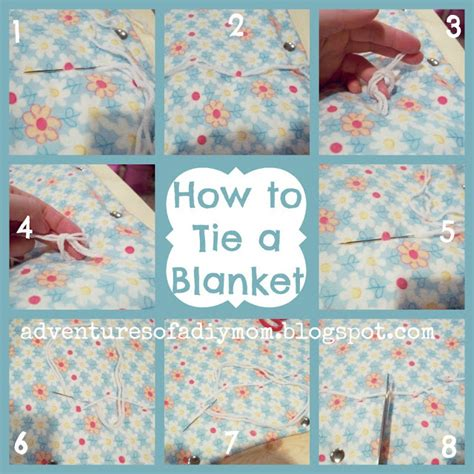 how to tie a blanket adventures of a diy