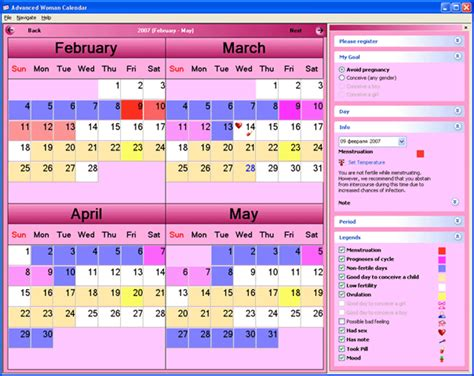 Conceiving Calendar Predicting Baby Gender Ovulation Calendar For Conceiving