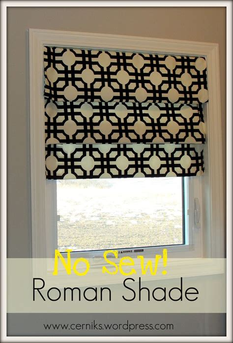 simple pattern for roman shades roman shade diy no sew decorations pinterest