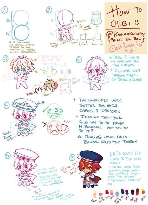 tutorial kagura how to chibi tutorial by kagura kurosaki on deviantart