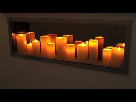 candle fireplace insert sogno candle led fireplace youtube