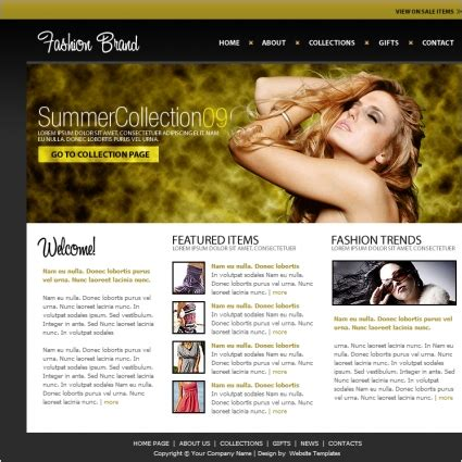 Fashion Brand Template Free Website Templates In Css Html Js Format For Free Download 206 94kb Clothing Brand Website Template