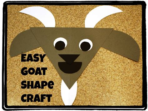 goat crafts for g is for goat shapes craft