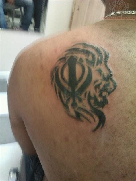khanda lion tattoo designs 35 most attractive punjabi khanda tattoos golfian