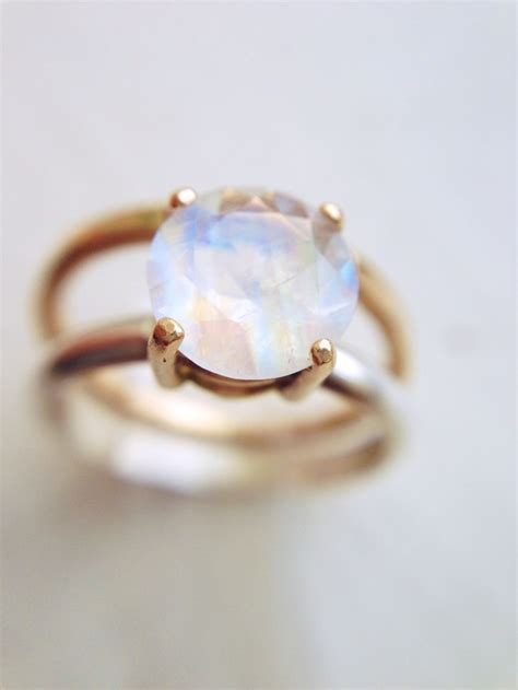 Cat Friendly Home Design moonstone engagement ring solid gold and recycled silver