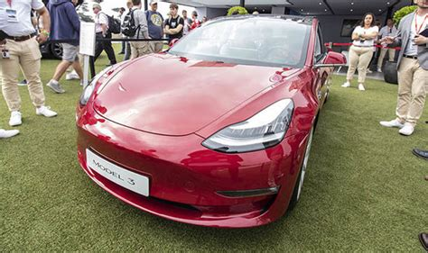 tesla model 3 fuel economy tesla model 3 makes uk debut at goodwood 2018 pictures and impressions express co uk