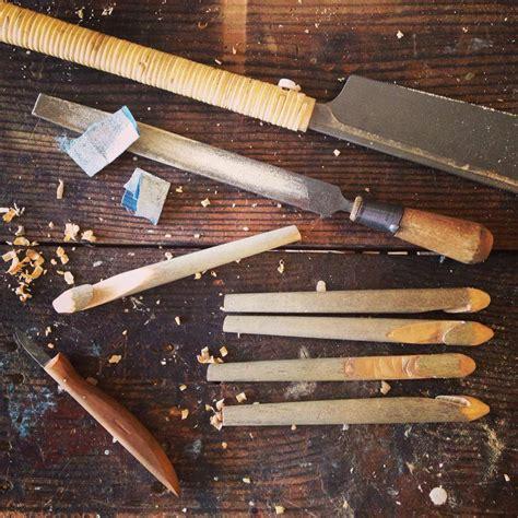 wooden knitting needles on plane whittling hooks needles perennial