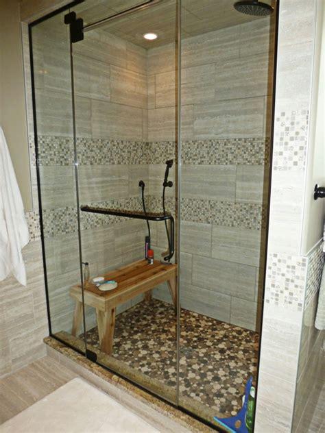 bodenfliesen für begehbare dusche badezimmer idee dusche