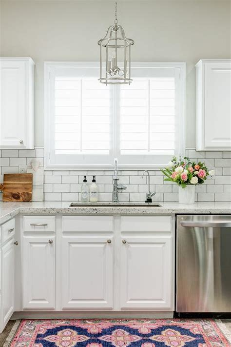 white kitchen subway tile backsplash white granite kitchen countertops with white subway tile
