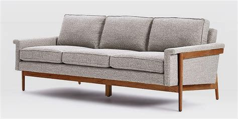 exposed wood frame sofa exposed wood frame sofa