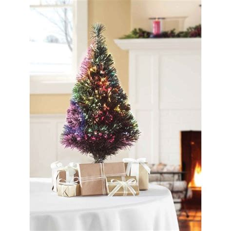 holiday time 32 inch fiber optic christmas tree