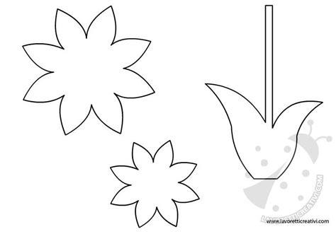 fiore da colorare e ritagliare sagome tulipani da ritagliare con disegni da colorare