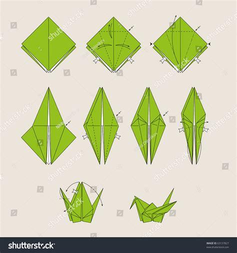 origami bird in green background origami green vector bird on light brown background