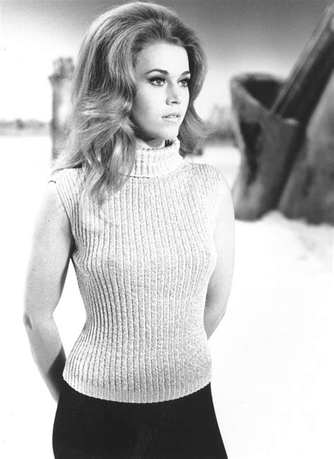 Jane Fonda in a surprisingly normal sweater in 'Barbarella