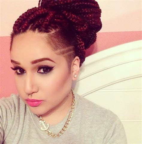 shaved sides with kanekalon twists style inspiration shaved sides with braids or twists