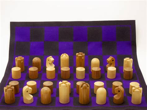 Minimalist Chess Set by Minimalist Chess Set By Carl Aub 246 Ck At 1stdibs