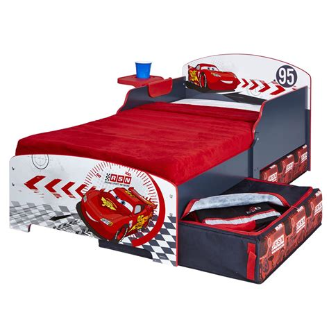 car toddler bed disney cars junior toddler bed storage shelf new boxed
