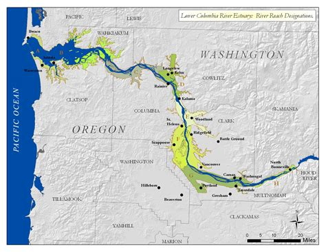 columbia river usa map columbia river map