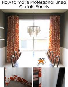 how to make drapery panels with lining how to make professional lined curtain panels