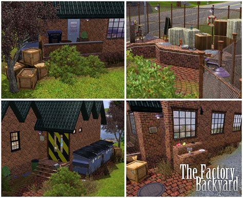 the backyard factory mod the sims the factory backyard gogo papa