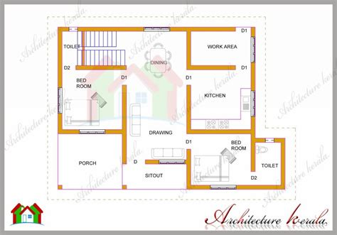Plan For House In Kerala by Simple 2 Bedroom House Plans Kerala Style Www