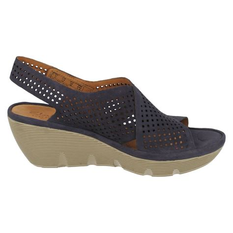 clarks wedge sandal clarks casual wedge sandals clarene award ebay