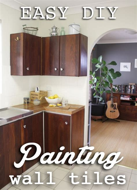 Kitchen Cabinet Painting Before And After by Our Budget Kitchen Makeover How To Paint Splashback Tiles