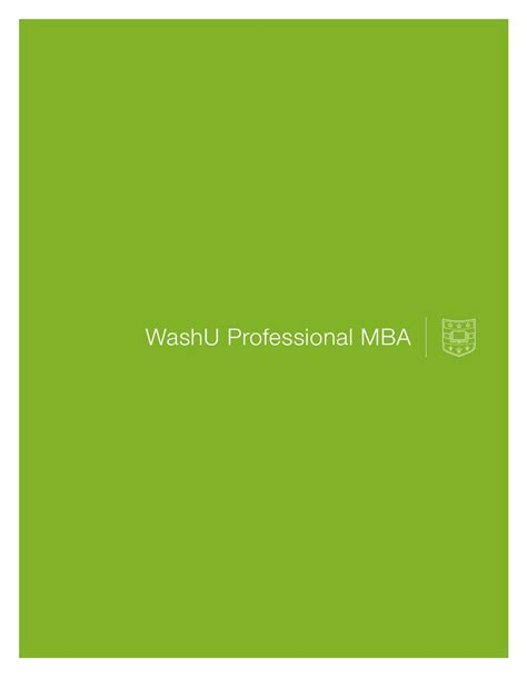 Washu Mba Application Process by Washu Pmba Viewbook By Olin Business School Issuu