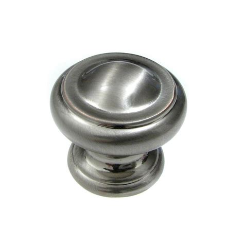 Brushed Nickel Door Knobs Home Depot by Richelieu Hardware 1 3 16 In Brushed Nickel Classic And
