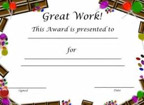 Bar Awards Template by Free Printable Award Certificates For