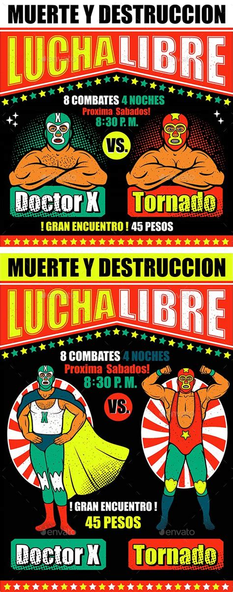 156446 Best Fonts Logos Icons Images On Pinterest Content Cover Template And Banner Lucha Libre Poster Template