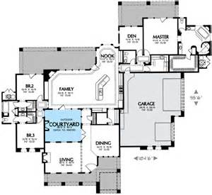 Floor Plans With Courtyard by Interior Courtyard 16360md 1st Floor Master Suite