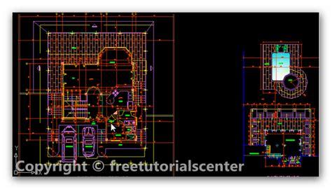 villa layout dwg villa design autocad project villa plan design dwg