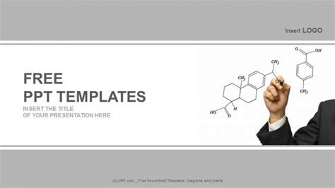 chemistry powerpoint template grid