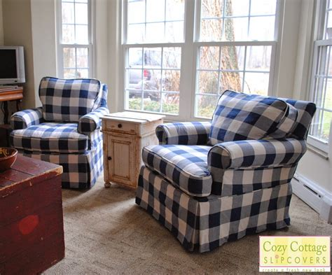 and white checkered sofa buffalo check sofa blue and white cottage home decorating
