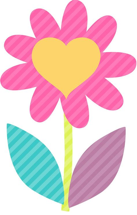 clip fiori pink flower clipart colorful flower pencil and in color
