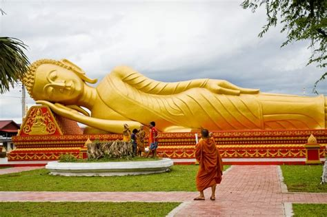 The Reclining Buddha by Laos Golden Reclining Buddha Traveler Photo Contest 2013