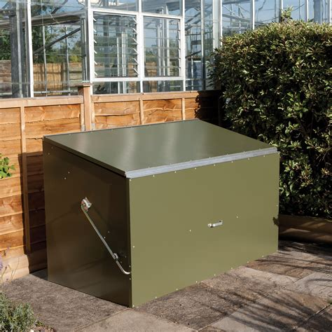 pent metal garden storage box  departments diy  bq