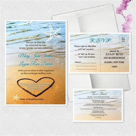 inviting wedding invitations ebay starfish wedding invitations personalized invites