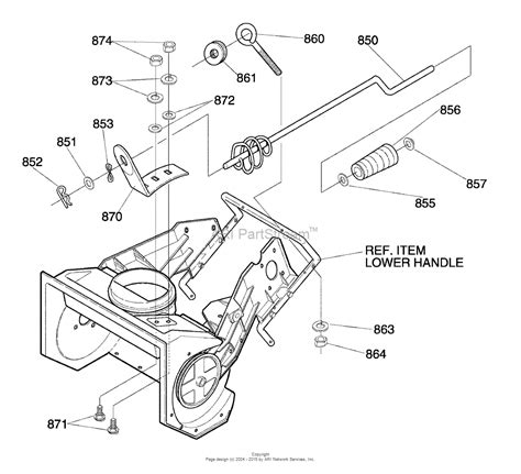 murray snowblower parts diagram murray 620351x16nb single stage snow thrower 2004