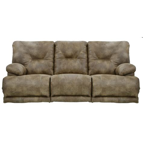 double reclining sofa with fold down table catnapper voyager power 3 seat quot lay flat quot reclining sofa