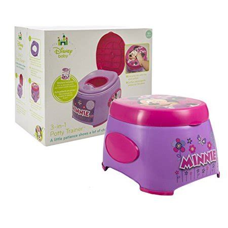 Minnie Mouse Potty Seat And Step Stool by Disney Minnie Mouse 3 In 1 Potty Trainer Functions As