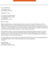 Transfer Letter Due To Pregnancy Sle Resignation Letters Letter Sles Livecareer