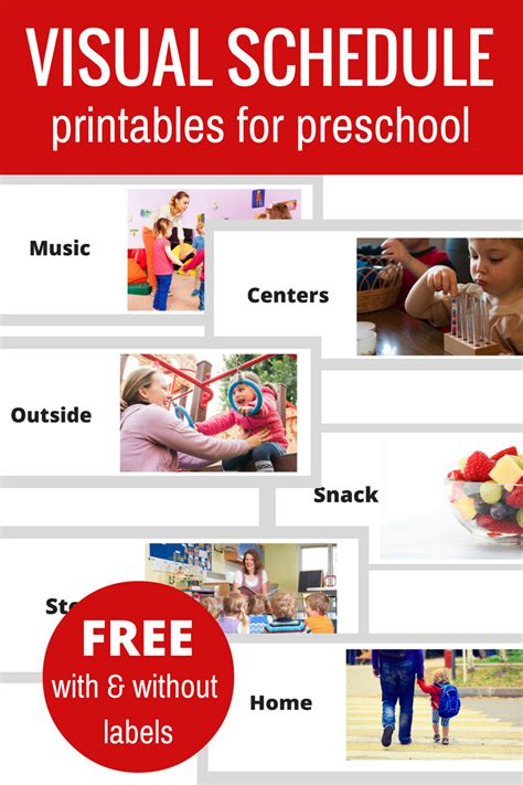 free classroom picture card templates printable free printable visual schedule for preschool no time for